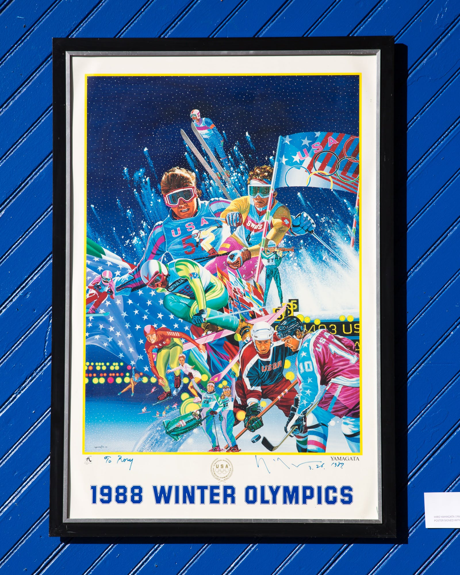 1988 Winter Olympics Ltd Ed Poster Signed With
