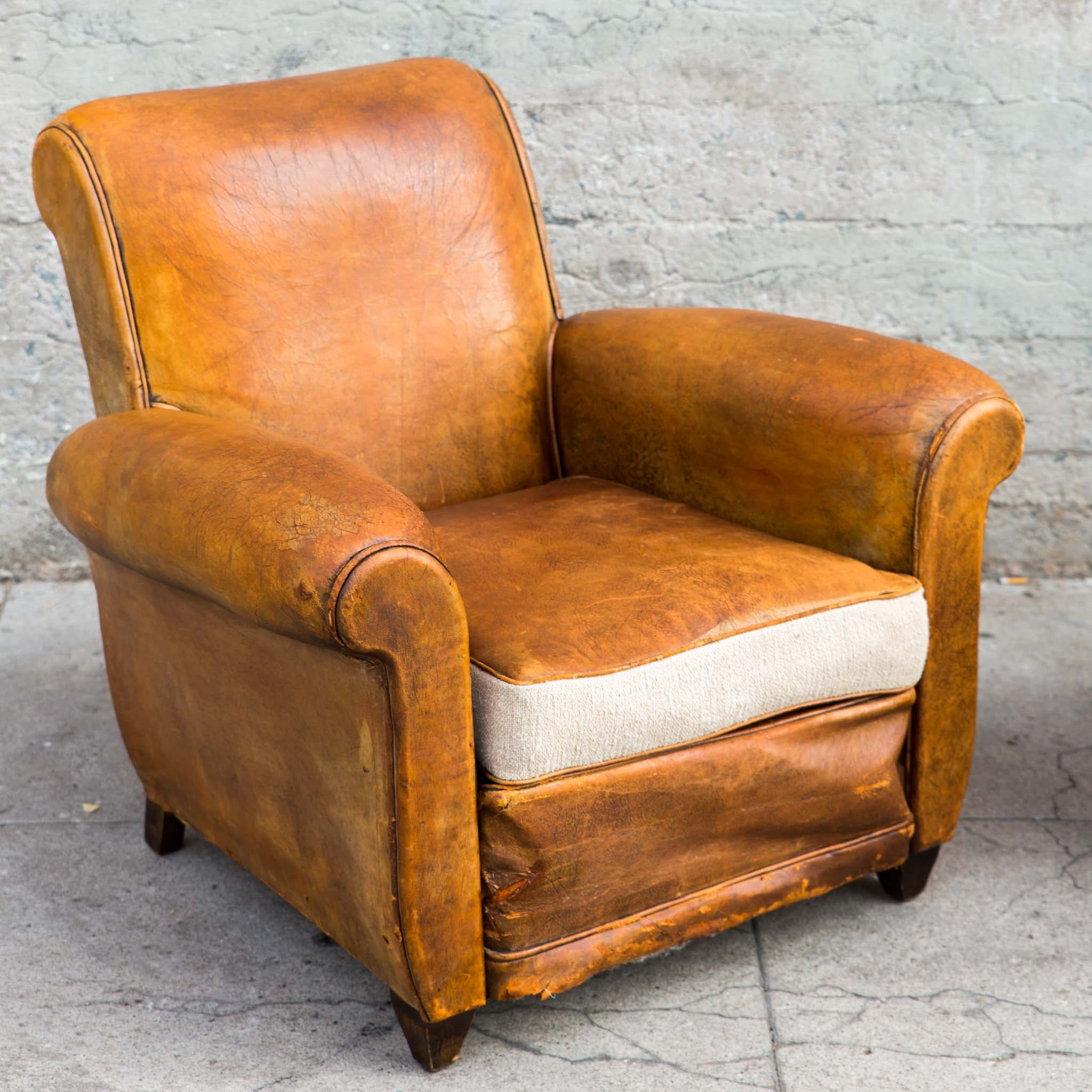 1940s French Club Chairs