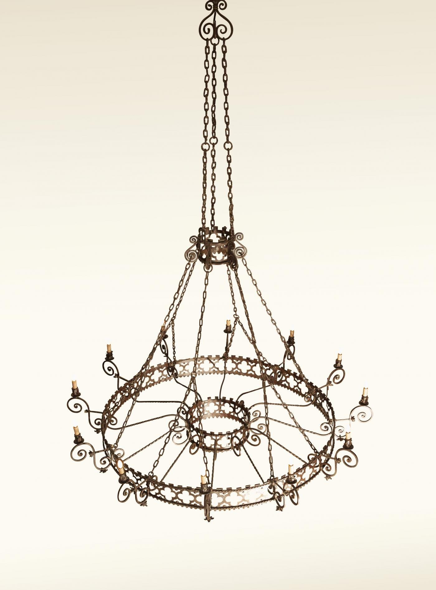 Grand Colonial Wrought Iron Chandelier 12 Light The Blue Door