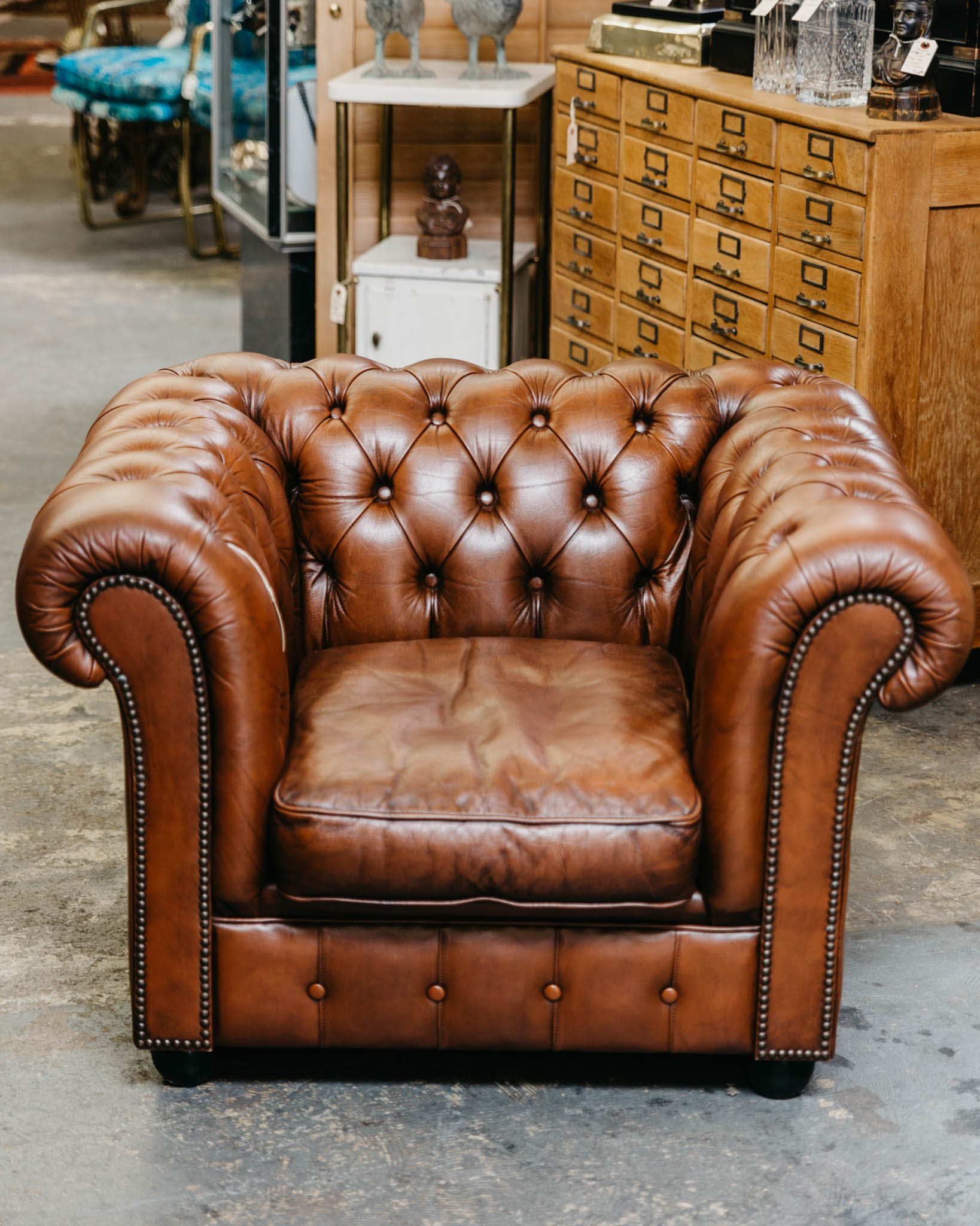 Super 1960S Leather Chesterfield Club Chair Short Links Chair Design For Home Short Linksinfo