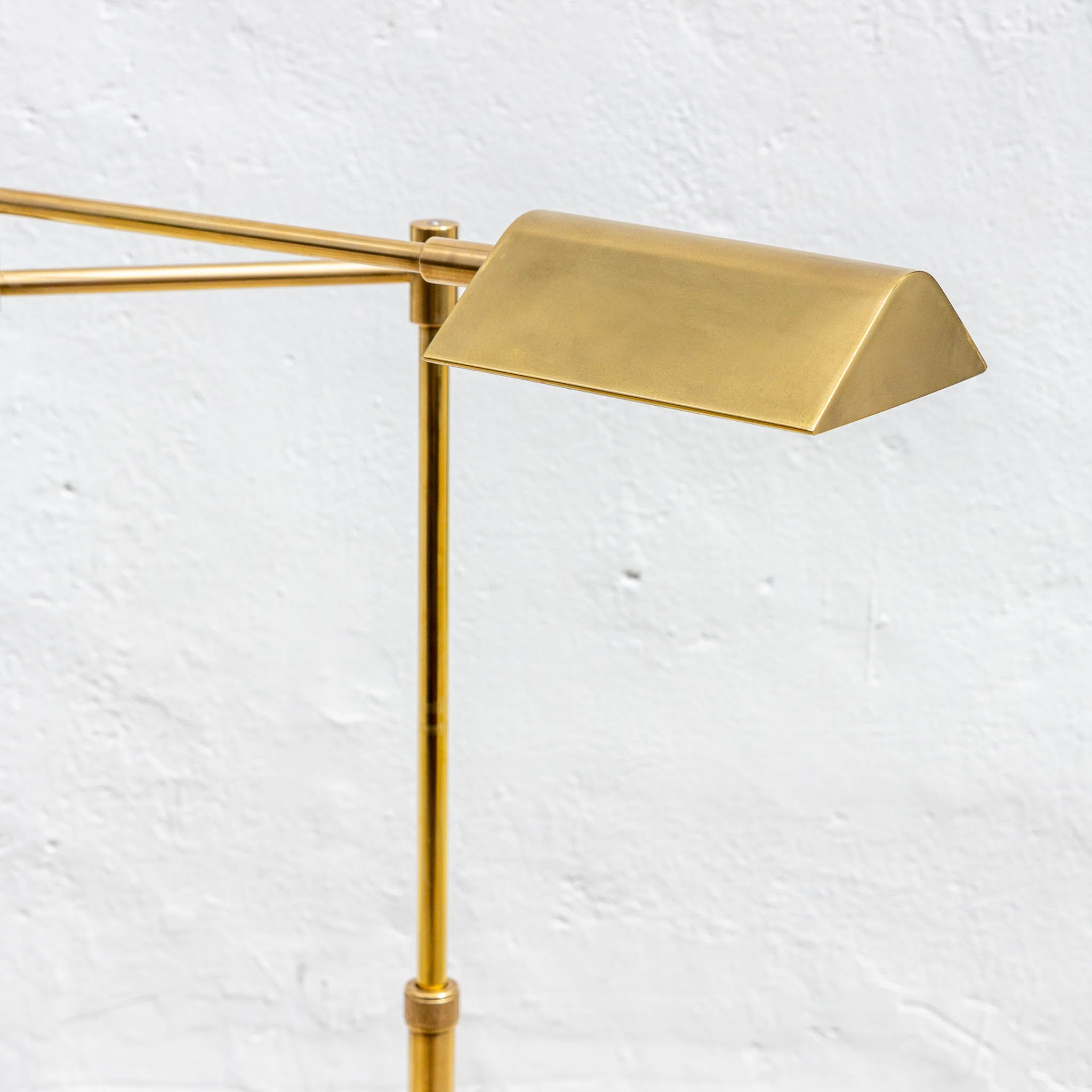 Vintage Brushed Brass Pharmacy Floor Lamp The Blue Door